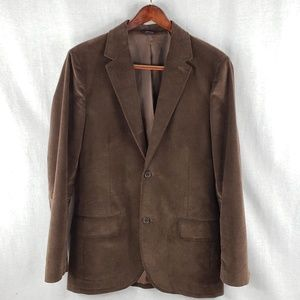 Gap Brown velvet 2 button blazer M